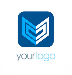 shape geometry business logo vector image