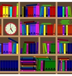 Shelves filled with books vector image