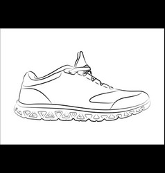 Sketch doodle sneakers for your creativity vector