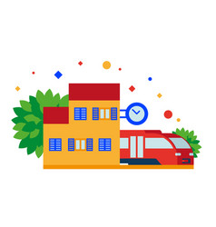 small train station vector image