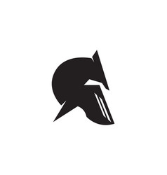 Spartan helmet logo template icon design vector