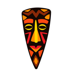 Stylized african mask tribal vector