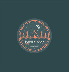 summer camp logo vector image