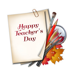 teacher s day card vector image