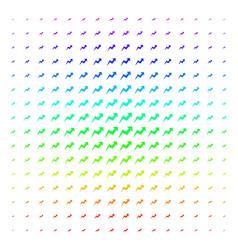 trend icon halftone spectrum effect vector image