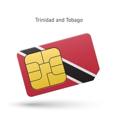Trinidad and Tobago mobile phone sim card with vector