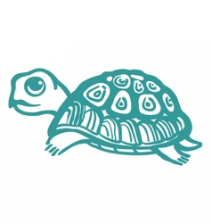 Turtle hand drawn vector image