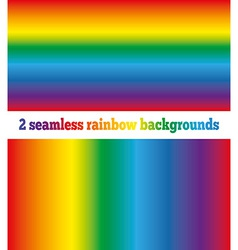 Two rainbow backgrounds seamless texture vector image