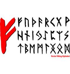 vector viking alphabet vector image