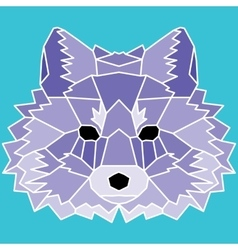 Violet low poly lined fox vector