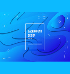 wavy geometric with fluid design background vector image
