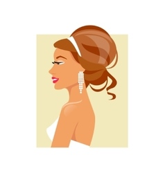 Wedding hairstyle vector image
