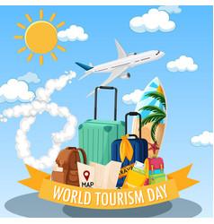 world tourism day symbol vector image