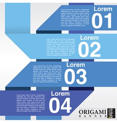 Abstract blue banners in four step EPS10 vector image vector image