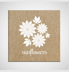 banner template with a herb on cardboard vector image vector image
