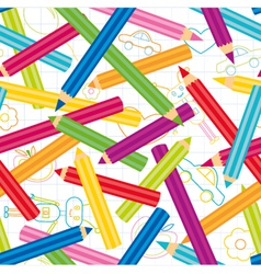 Colored Pencils Background vector image vector image