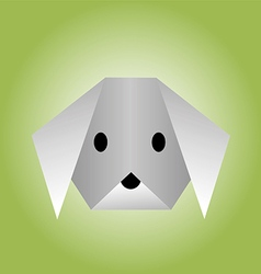 dog from paper of origami vector image vector image
