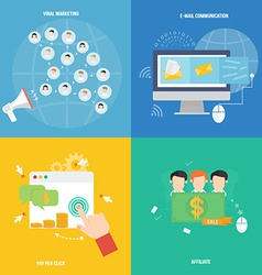 Element of social marketing icon in flat design vector image vector image