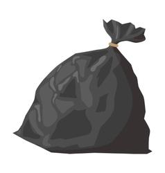 Full refuse plastic cartoon sack vector image vector image