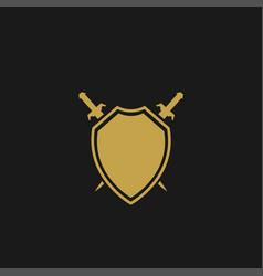 Shield with swords vector
