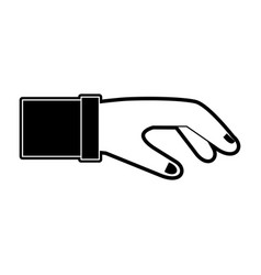 business hand symbol vector image vector image