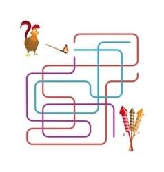 Christmas games maze vector image