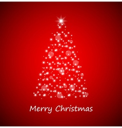 Christmas tree from stars vector image vector image