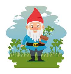 Fantastic character dwarf cartoon vector