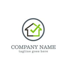 home check secure company logo vector image vector image