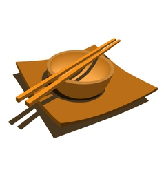 japanese style dining set vector image