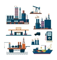 Oil industry business concept of gasoline diesel vector image vector image