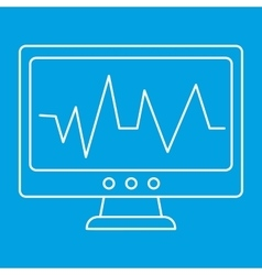 Pulse monitoring thin line icon vector image vector image