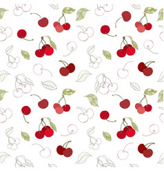 Seamless berry pattern vector