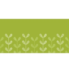 Abstract textile green vines leaves horizontal vector image vector image
