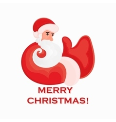 Cartoon Santa Claus that shows thumb up on a white vector image vector image