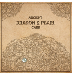 dragon parchment card vector image