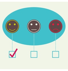 Emotional smiles vector image