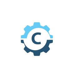 gear solution logo initial c vector image vector image