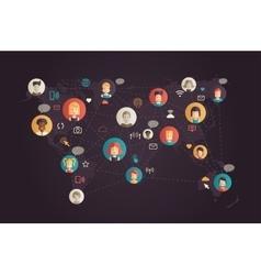 Network communication - modern flat design vector image