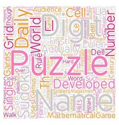 The Development Of Sudoku Puzzles text background vector image vector image