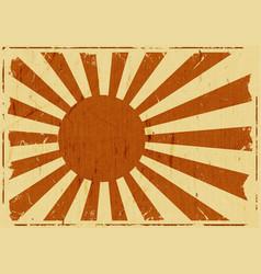 vintage japan flag landscape background vector image vector image
