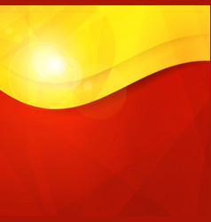 Abstract red yellow orange design template vector image