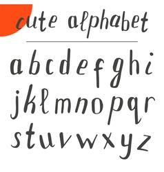 Cute hand drawn alphabet font vector image vector image