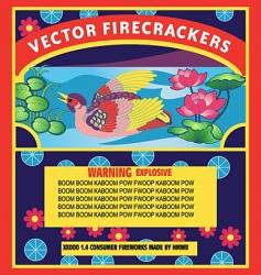 firecracker label vector image