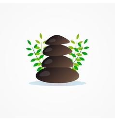 Logo stone for yoga company vector image