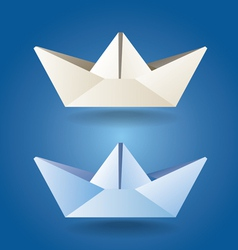 paper boats soft colors vector image