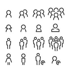 People line icon set vector