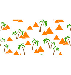 pyramids seamless background vector image vector image