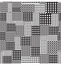 Seamless abstract pattern of squares vector image vector image