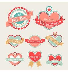 valentine lebel vector image vector image
